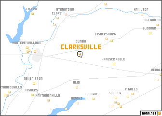 map of Clarksville