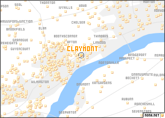 map of Claymont