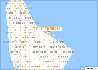map of Clifton Hall