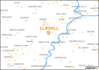 map of Clips Mill