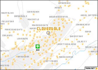 Cloverdale United States USA map nonanet