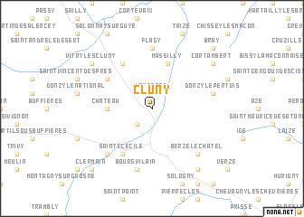 Cluny France Map.Cluny France Map Nona Net