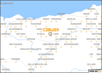 map of Cobijón