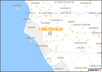 map of Cobito Viejo