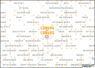 map of Coburg