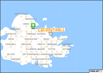 map of Coconut Hall