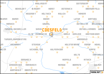 map of Coesfeld