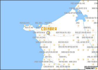 map of Coimbrã