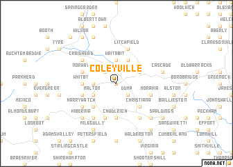 Coleyville Jamaica Map  Nona