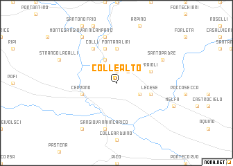 map of Colle Alto