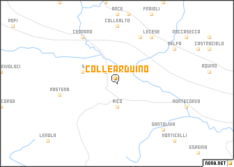 map of Colle Arduino