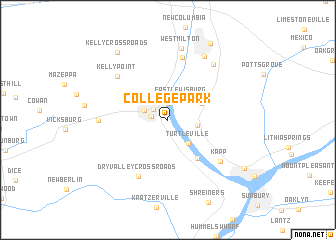 map of College Park