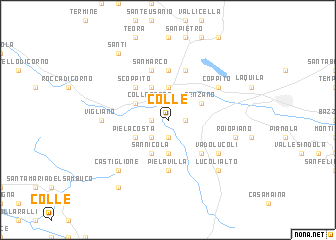 map of Colle
