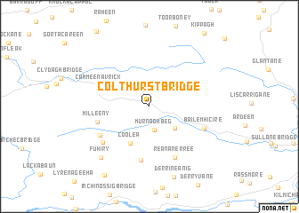 map of Colthurst Bridge
