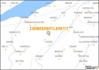 map of Combremont-le-Petit