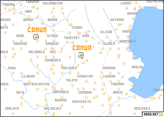 map of Comun