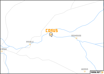 map of Comus