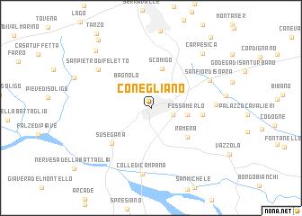 map of Conegliano
