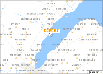 map of Coppet