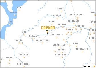 map of Cordon
