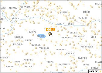 map of Čore