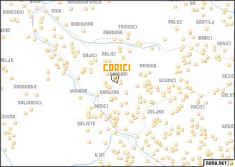 map of Ćorići