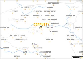 map of Corpusty
