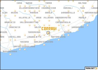map of Corradi