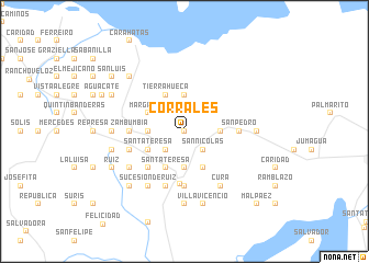 map of Corrales