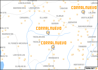 map of Corral Nuevo