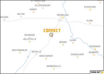 map of Correct