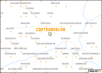 map of Corte da Velha