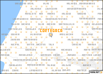 map of Cortegaça