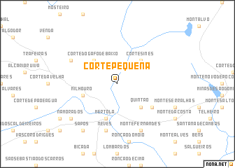 map of Corte Pequena