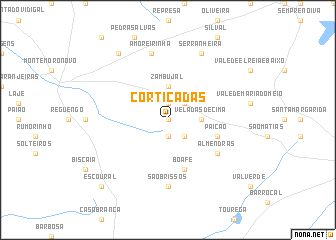 map of Cortiçadas