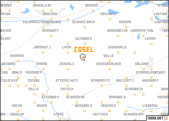 map of Cosel