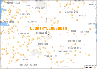 map of Country Club South