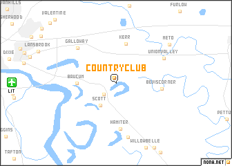 map of Country Club
