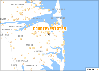 map of Country Estates