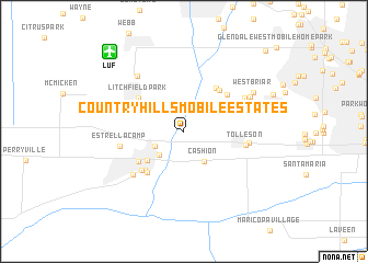 map of Country Hills Mobile Estates