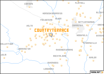 map of Country Terrace