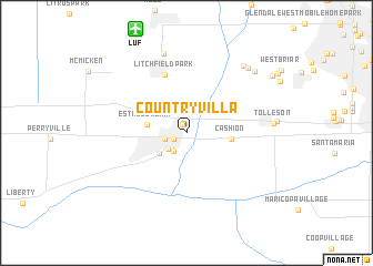 map of Country Villa