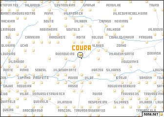 map of Coura