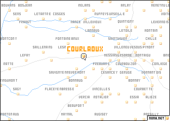 map of Courlaoux