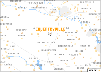 map of Coventryville