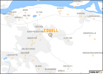 map of Cowell