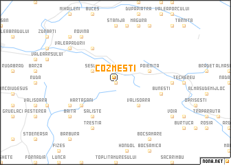 map of Cozmeşti