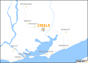 map of Creels