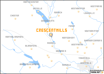 map of Crescent Mills