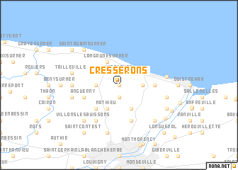 map of Cresserons